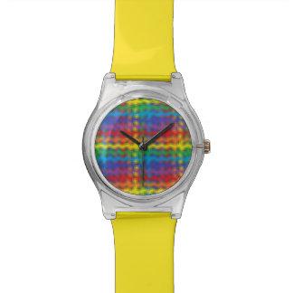 Reloj colorido de las ondulaciones