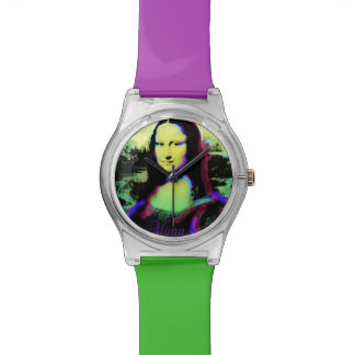 Reloj colorido de Mona Lisa