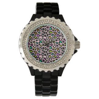 Reloj colorido salvaje del guepardo