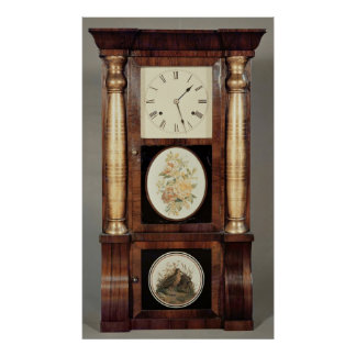 Reloj Columned, c.1855 Póster