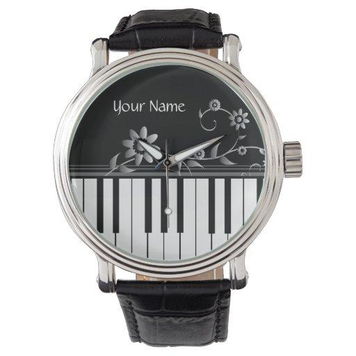 Reloj con clase adaptable del piano