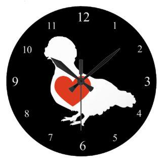 Reloj con cresta polaco del amor