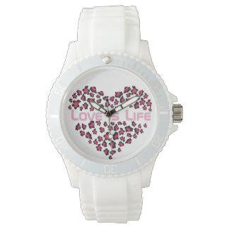 Reloj con el corazón del leopardo