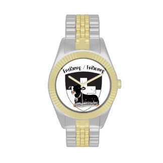 Reloj con el diseño Fribourg Suiza del suizo