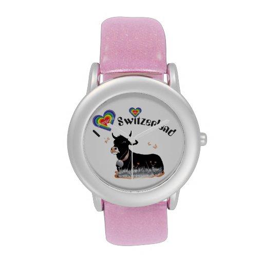 Reloj con el diseño Schweiz Suisse Suiza del suizo