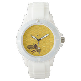 Reloj con el panal y la abeja de oro