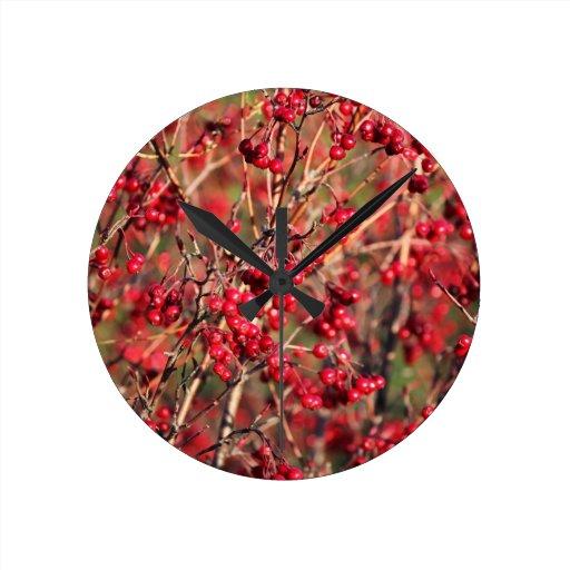 Reloj con las bayas rojas