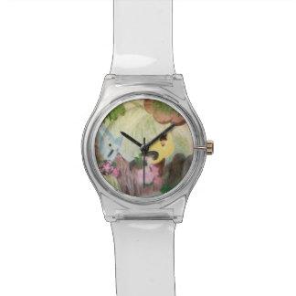 Reloj con los pájaros o birdwatching
