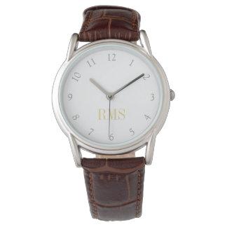 Reloj con monograma clásico para hombre de la