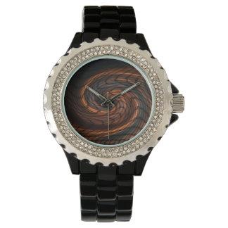 Reloj con un diseño digital del extracto del arte