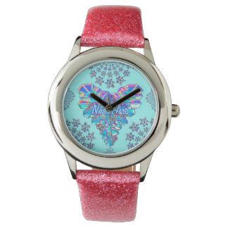 ¡Reloj congelado regalo femenino del corazón! Relojes