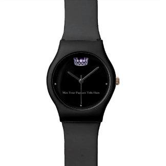 Reloj conocido de encargo de la corona del negro