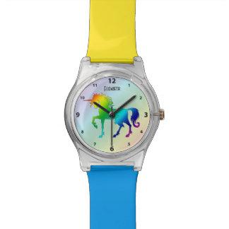 Reloj conocido de encargo del unicornio del arco