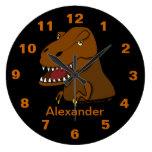 Reloj conocido personalizado dinosaurio de Rex del