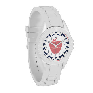 Reloj coralino del profesor de Chevron de la marin