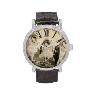 Reloj crecido mitad de los búhos
