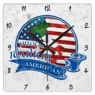 Reloj cuadrado americano italiano orgulloso
