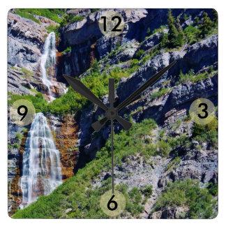 Reloj cuadrado de la cascada #1a- de Utah (elija