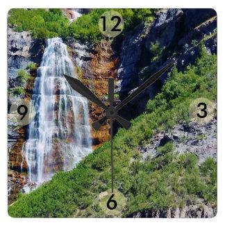 Reloj cuadrado de la cascada #1b- de Utah (elija