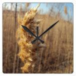 Reloj cuadrado del trigo