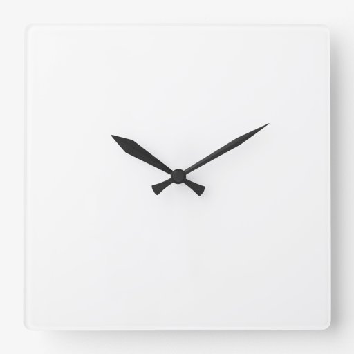 Cuadrado Reloj De Pared