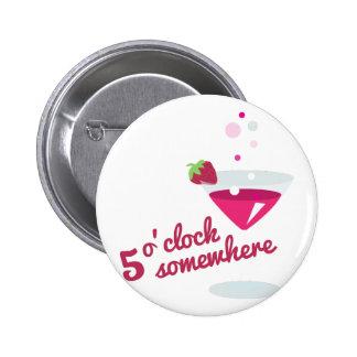 reloj de 5 o pin redondo 5 cm