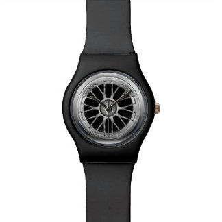 Reloj de acero de la rueda del neumático de coche