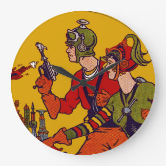Reloj de Acryllic del arte pop del cómic del vinta