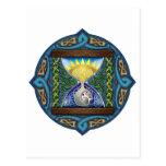Reloj de arena céltico tarjeta postal