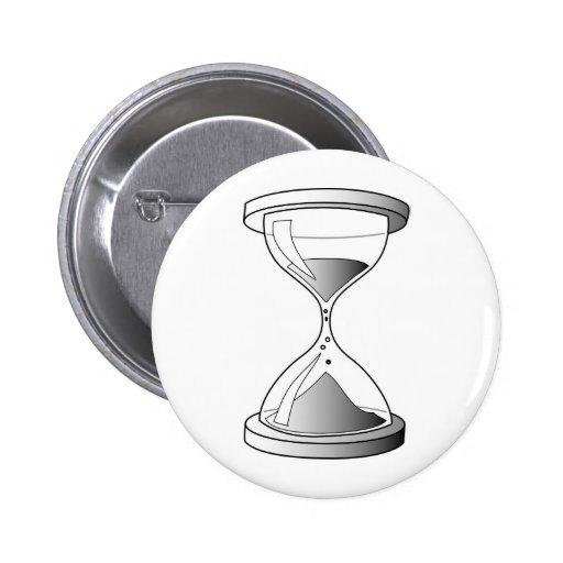 Reloj de arena de la pendiente pin redondo 5 cm