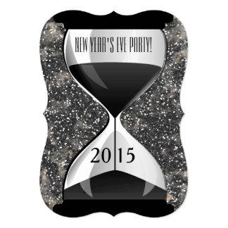 Reloj de arena de las chispas del negro del fiesta comunicado