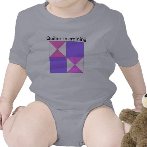 reloj de arena del Quilter-en-entrenamiento Trajes De Bebé