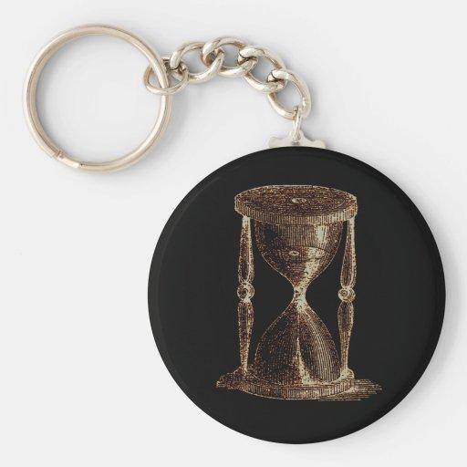 Reloj de arena ligero alterado vintage de la alqui llaveros