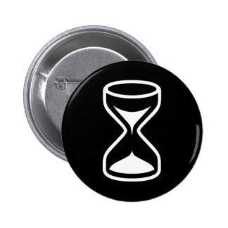 Reloj de arena pin redondo de 2 pulgadas