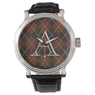 Reloj de Argyle del monograma