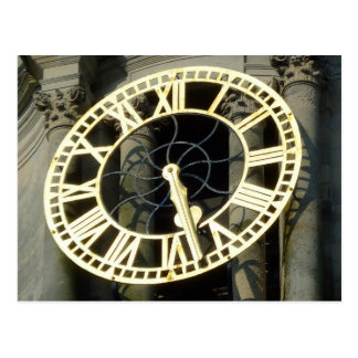 Reloj de ayuntamiento Cardiff País de Gales Rei Postal