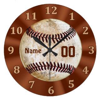 Reloj de Baskeball del vintage SU NOMBRE y NÚMERO