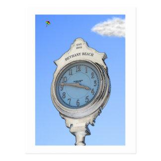 Reloj de Bethany y postal de la cometa