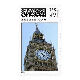 Reloj de Big Ben en Londres, Inglaterra Reino Sellos Postales