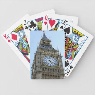 Reloj de Big Ben en Londres, Inglaterra Reino Unid Barajas De Cartas