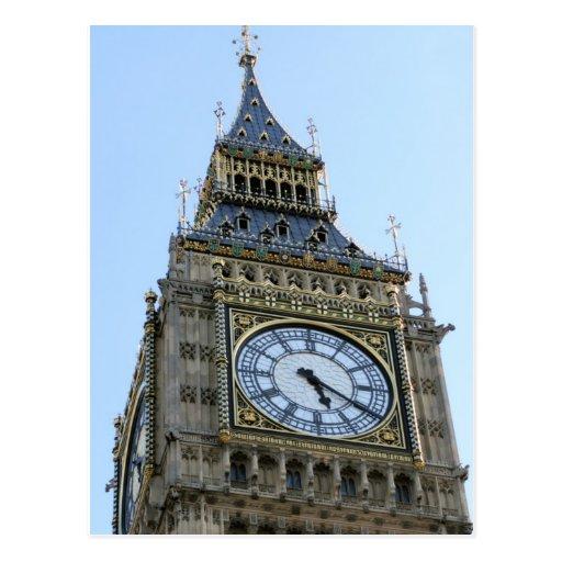 Reloj de Big Ben en Londres, Inglaterra Reino Unid Tarjeta Postal
