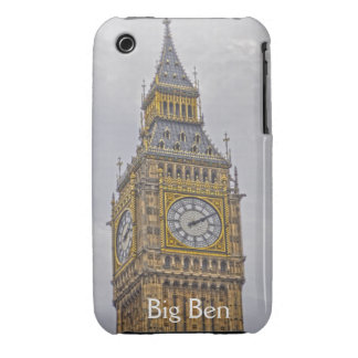 Reloj de Big Ben, torre de Elizabeth, Londres iPhone 3 Carcasas