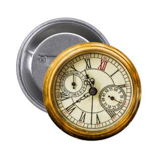 Reloj de bolsillo antiguo pin redondo de 2 pulgadas