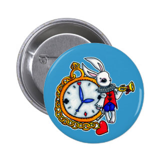 Reloj de bolsillo blanco del conejo pin