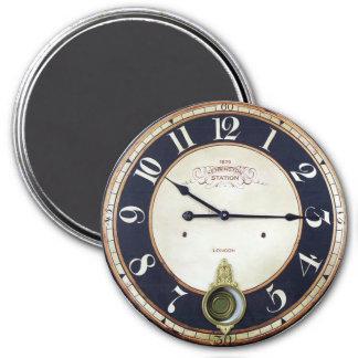 Reloj de bolsillo de la antigüedad del reloj del imán redondo 7 cm