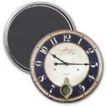 Reloj de bolsillo de la antigüedad del reloj del v imán para frigorífico