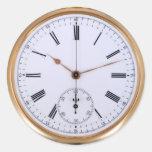 Reloj de bolsillo de la antigüedad del reloj del v etiquetas redondas