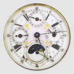 Reloj de bolsillo de la antigüedad del reloj del v etiqueta