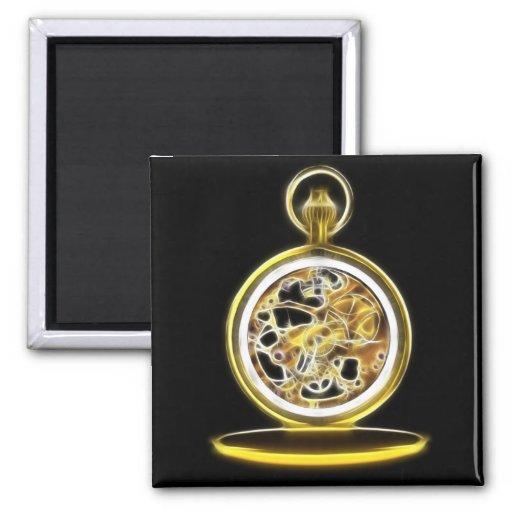 Reloj de bolsillo de oro de Pocketwatch Imán Cuadrado