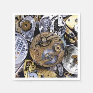 Reloj de bolsillo del Victorian del vintage del Servilleta Desechable